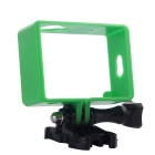 PC Fixed Protective Frame + Long Screw + Buckle Mount Set for Xiaomi Xiaoyi Camera - Green + Black
