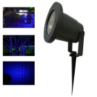 Waterproof Christmas Static Firefly Pattern Blue Laser Light - Black