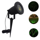 Static Starry Pattern Outdoor Red and Green Laser Landscape Light w/ Remote Control - Black