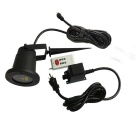 Static Starry Pattern Red+Green Laser Landscape Lamp w/ Remote - Black