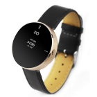 "IDO ONE 0.66"" OLED Bluetooth v4.0 Smart Watch w/ Pedometer for iOS / Android Devices - Black + Gold"