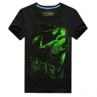 EXPERTEE Pure Cotton + Polyester 3 d Printing Luminous T-shirt - Black (Size XL)