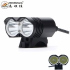 ZHISHUNJIA LR-2 2000lm 4-Mode White Bicycle Light / Headlamp w/ XM-L T6 - Black (4 x 18650)