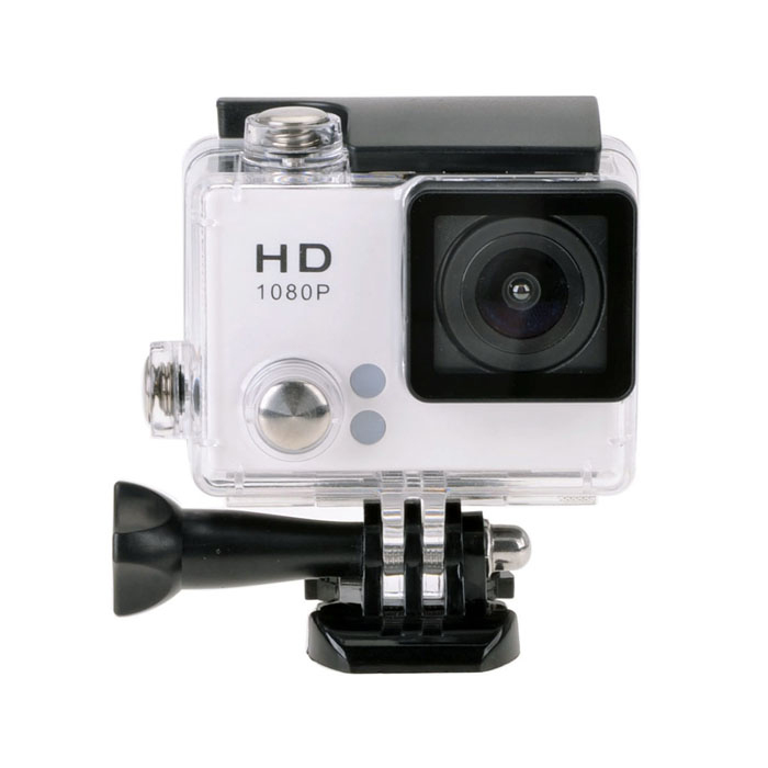"EOSCN S2 1080P 12.0MP 2.0"" LCD 140' Wide Angle Sport DV Camera - White"