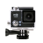 "EOSCN S2 FHD 1080P 12.0MP 2.0"" LCD 2/3"" CMOS 140 Degree Wide Angle Sports DV Camera - Black"