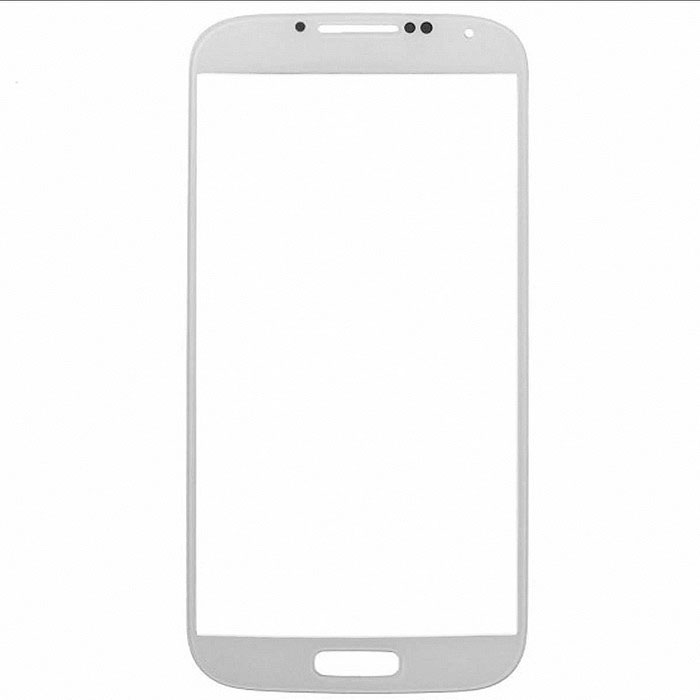 LCD Screen Front Lens Glass Cover for Samsung Galaxy S4 i9500 - White