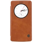 NILLKIN QIN Series Protective PU Leather + PC Case for LG G4 - Brown