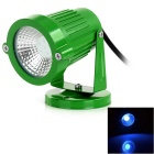 Waterproof 3W COB LED Lawn Lamp / Spotlight Blue Light 460nm 20lm - Grass Green (DC/AC 12V)