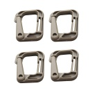 Portable Outdoor Sports PVC D-Ring Locking Carabiners - Khaki (4 PCS)
