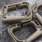 Portable Outdoor Sports PVC D-Ring Locking Carabiners - Khaki (4PCS)