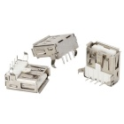 USB A-Type Female 90 Degree Connector DIY Parts - Silver (10PCS)