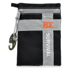 EDCGEAR Outdoor Water-Resistant Survival Gear Storage Bag - Black + Grey (M)