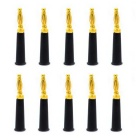 Jtron Audio Speaker Gold-Plated 4mm Banana Plug Connectors - Black (10 PCS)