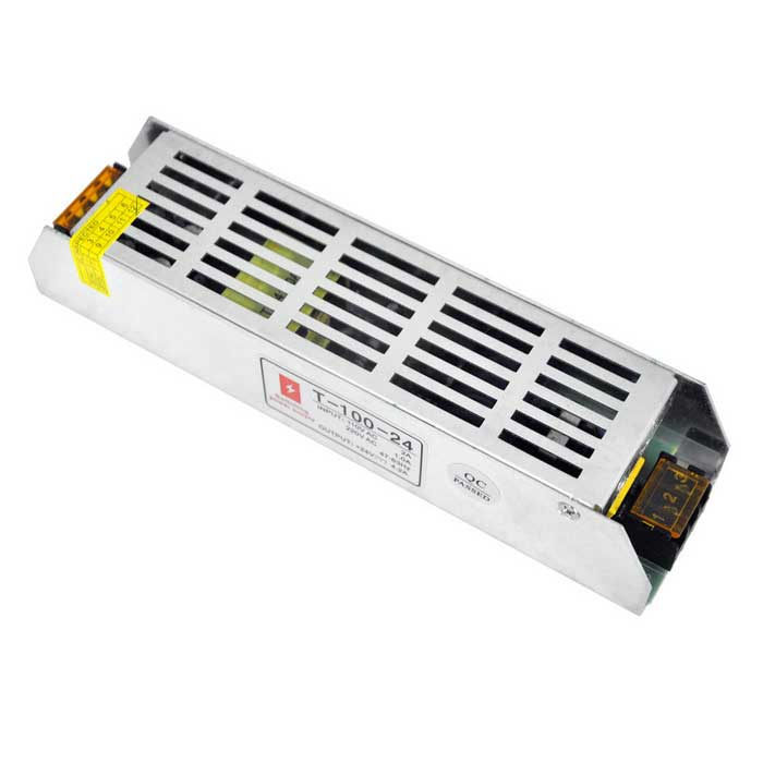 AC 85~265V to DC 24V 100W 4.2A Switching Power Supply for LED Light - Alarm and Protection - Home and Office