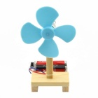DIY Educational Assembly Electric Fan Kit - Wood Color (2 x AA)