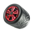 Wheel Type Bluetooth Speakers 2.0 HIFI Bass TF Card Hands-free - Red