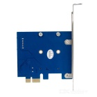 PCI-E to MSATA + SATA 3.0 Expansion Card Board for Desktops - Blue