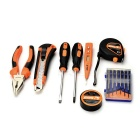 SDBL 15-in-1 Household Screwdrivers Electroprobe Repair Maintenance Tool Kit - Orange + Grey