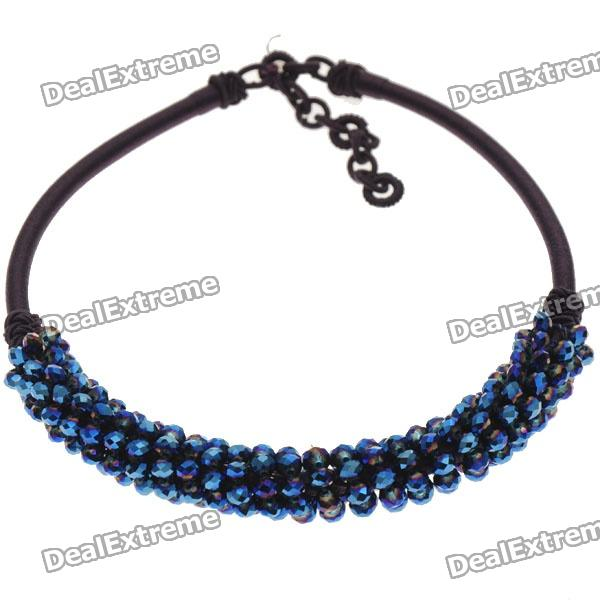 Mystic Crystal Gemstone with Silk Knot Design Necklace