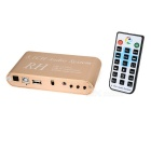 DTS/AC3 5.1CH Audio Decoder w/ USB Digital Sound / Media Player - Golden + White