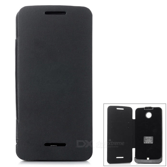 full body 3800mAh strøm bank batteri sak for motorola Nexus 6 - svart