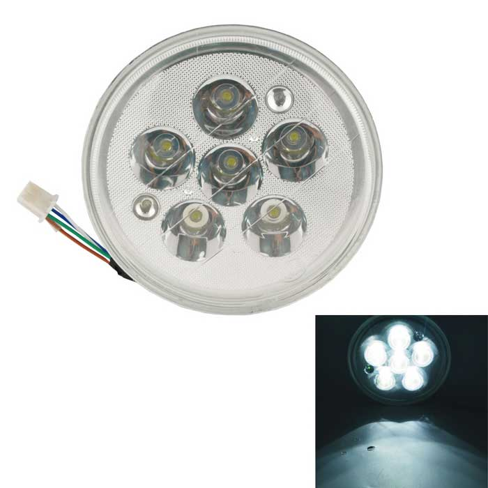 CARKING Universal Assembly Round 18W 6-LED Headlight for Motorcycle