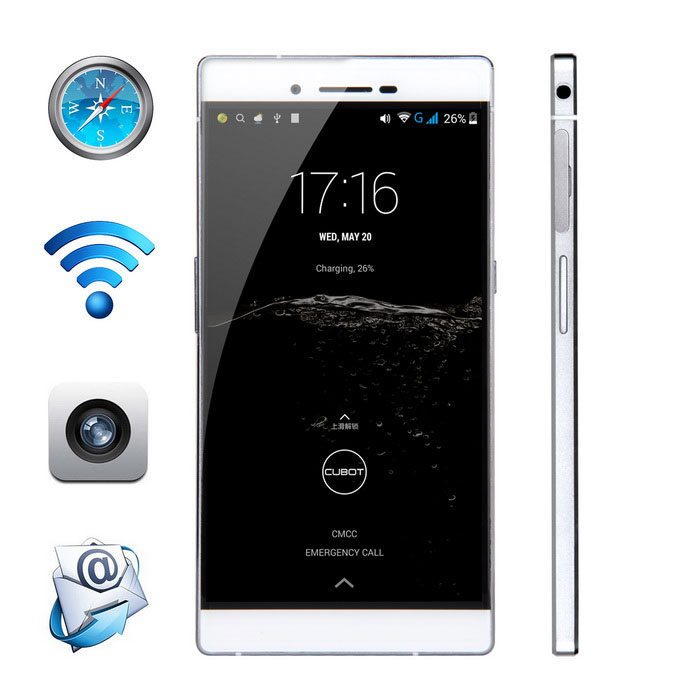 CUBOT X11 Android 4.4 Octa-core Phone w/ 2GB RAM, 16GB ROM - White