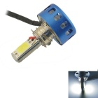 Wired 18W 2400lm White COB LED Motorcycle Headlamp - Blue + Silver