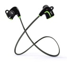 Bluetooth V4.0 Mini Lightweight Sweat-proof Wireless Stereo Sport Headphones - Black + Green