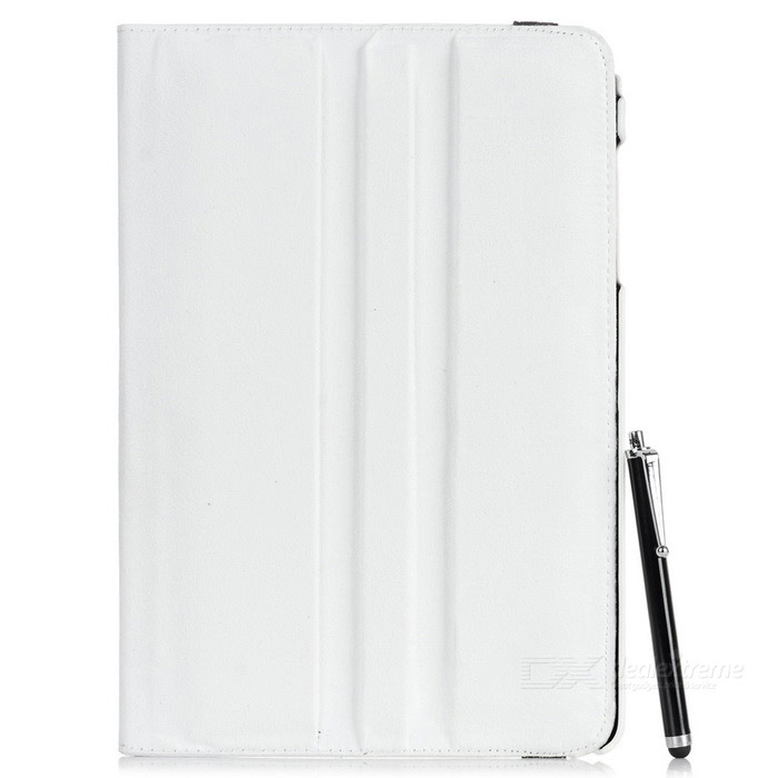 MINI SMILE 360° Rotary PU Case + Stylus for Samsung T550 - White