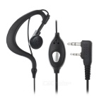 K-Type PVC Walkie Talkie Spring Cable Earphone w/ Clip for BeiFeng / Kenwood + More - Black