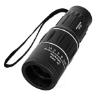 16*52mm Outdoor Sports / Concert / Game Monocular Telescope - Black