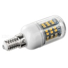 E14 4W LED Corn Bulb Light Warm White 48-SMD - White + Beige (5PCS)