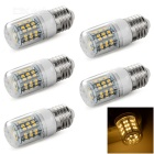 E27 4W 200lm 3200K 48-SMD 3528 LED Warm White Light Bulb (5 PCS / AC 220V)