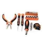 SDBL Household Screwdrivers Plier Electroprobe Mini Repair Maintenance Tool Kit - Orange + Silver