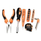 SDBL 25-in-1 Household Screwdrivers Plier Electroprobe Repair Maintenance Tool Kit - Orange + Silver