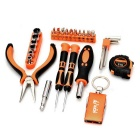 SDBL Household Screwdrivers / Plier / Wrench / Keychain Repair Maintenance Tool Kit - Orange + Grey