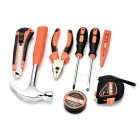 SDBL 9-in-1 Household Screwdrivers Plier Electroprobe Repair Maintenance Tool Kit - Orange + Grey