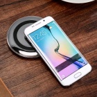 Mini Smile Qi Wireless Charger + Cable for Smartphones - Black