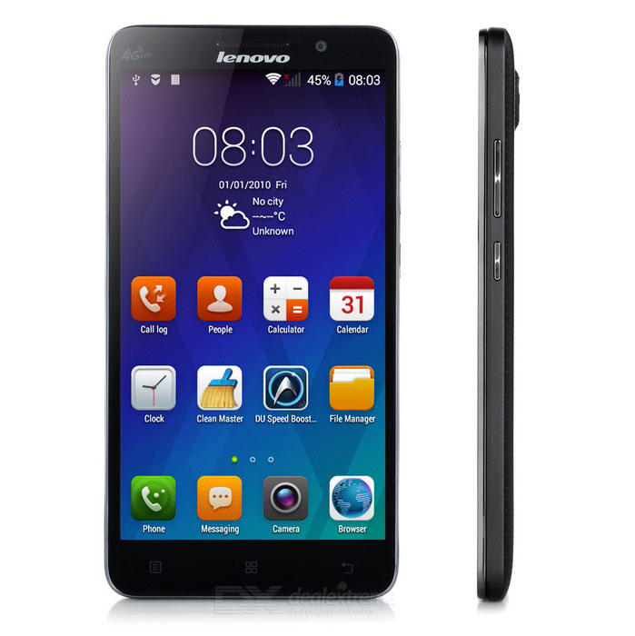 """Lenovo A5800D MT6732m Ouad-Core-Android 4.4 Phone w / 5,5 """", Wi-Fi, GPS, 4GB ROM - Schwarz"""
