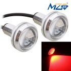 MZ 1.5W 22.5mm 5630-3SMD 150lm Spot LED Red Car Daytime Running / Fog / Backup Light (12V / Pair)