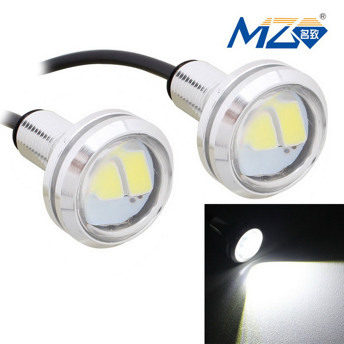 MZ 1.5W 22.5mm 3-SMD Spot White LED Car Daytime Running Light (Pair)Decorative Lights / Strip<br>Color BINWhiteModelN/AQuantity1 DX.PCM.Model.AttributeModel.UnitMaterialAluminumForm  ColorSilverEmitter TypeLEDChip BrandOthers,SMD 5630 LEDChip TypeSMD 5630 LEDTotal Emitters3PowerOthers,1.5WColor Temperature6500 DX.PCM.Model.AttributeModel.UnitTheoretical Lumens180 DX.PCM.Model.AttributeModel.UnitActual Lumens150 DX.PCM.Model.AttributeModel.UnitRate Voltage12VWaterproof FunctionYesConnector TypeOthers,WiredOther FeaturesWire length: 75cmApplicationBackup light,Foglight,Daytime running lightPacking List2 x LED Lights<br>