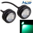 MZ 1.5W 22.5mm Spot LED Car Daytime Running / Backup Light Green 3-5630 SMD 150lm (12V / Pair)