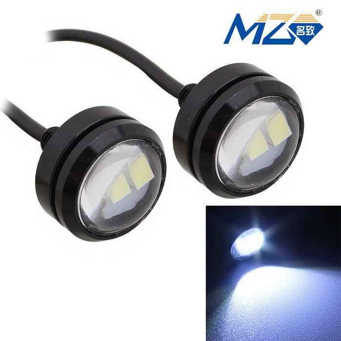 MZ 1.5W 22.5mm Spot LED Car Daytime Running Light White 3-SMD (Pair)