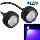 MZ 1.5W 22.5mm Spot LED Car Daytime Running / Backup Light Blue 3-5630 SMD 150lm (12V / Pair)