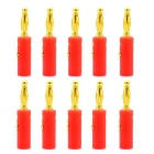 Jtron 4mm Audio Speaker Gold Plated Banana Plugs Connectors (10PCS)