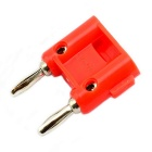 Jtron 4mm Nickel Plating Double Banana Plug Stereo Connector - Red (5PCS)