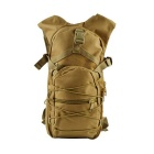 Outdoor Nylon Double-Shoulder Bag Backpack for Cycling, Camping, Travelling - Tan