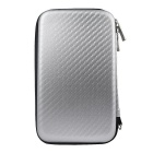 "Protective Shockproof Storage Bag Case for 2.5"" Hard Disk Drive / Mobile Power / USB Device - Silver"