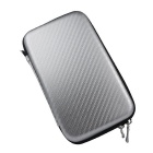 "Protective Shockproof Storage Bag Case for 2.5"" HDD + More - Silver"